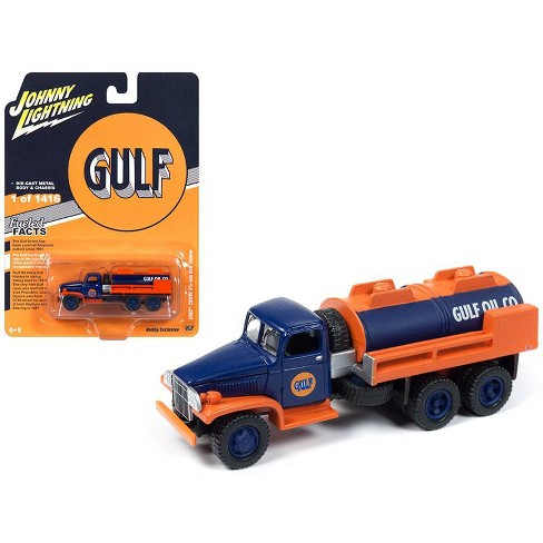 """GMC CCKW 2 1/2-ton 6x6 Tanker Truck """"Gulf Oil"""" Limited Edition to 1,416 pcs Worldwide 1/87 Diecast by Johnny Lightning - image 1 of 1"""