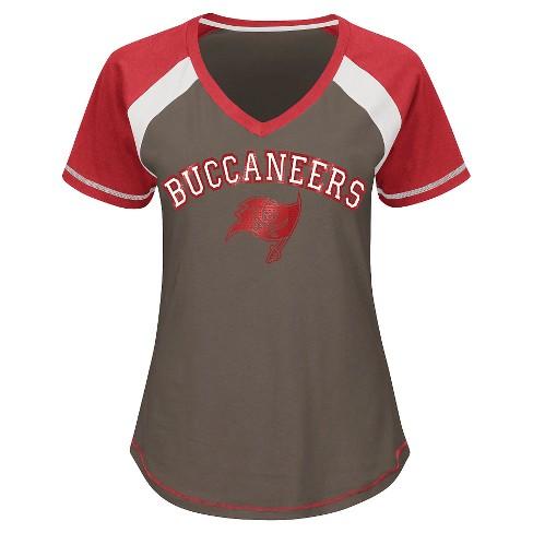 best loved b4188 0863d Tampa Bay Buccaneers Women's 2nd Raglan T-Shirt S