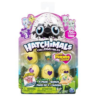 Hatchimals CollEGGtibles Season 3 - 4pk + Bonus (Styles & Colors May Vary)by Spin Master