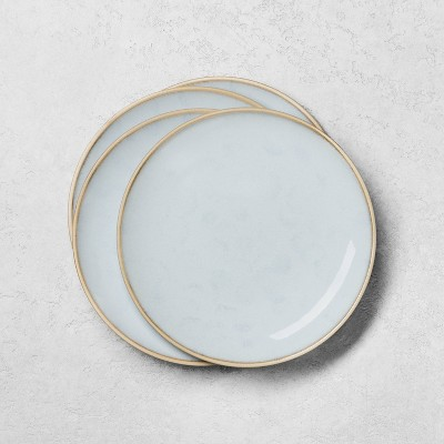 4pk Stoneware Reactive Exposed Rim Salad Plate Set Blue - Hearth & Hand™ with Magnolia