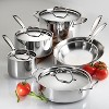 Tramontina Gourmet Tri-Ply Clad Induction-Ready Stainless Steel 10 pc Cookware Set - image 2 of 4