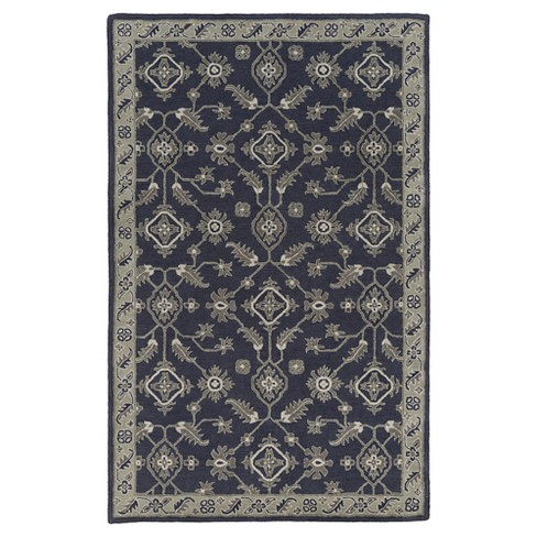 Navy Blue Abstract Tufted Area Rug - (5'x7'6) - Surya - image 1 of 3