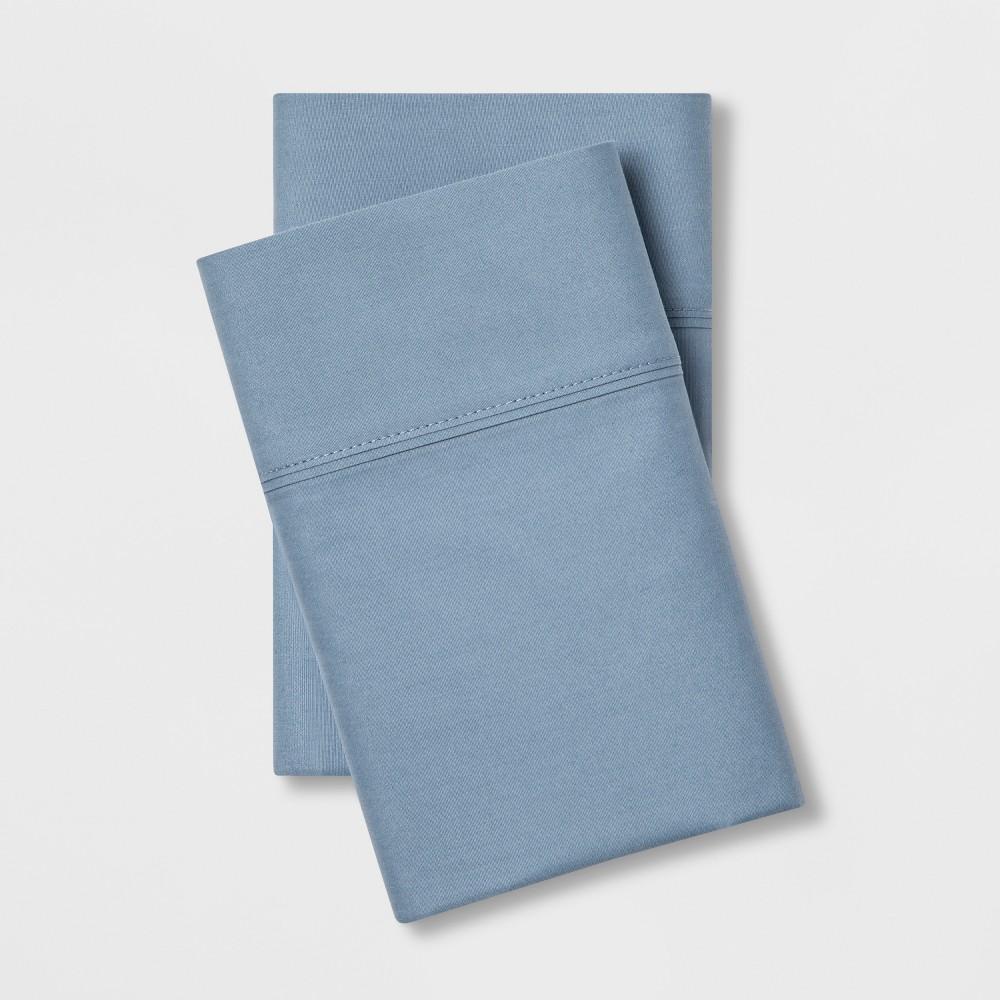 Standard 300 Thread Count Ultra Soft Pillowcase Set Light Indigo - Threshold