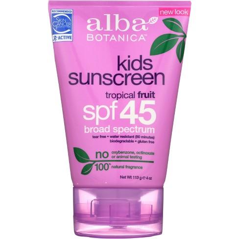 Alba Botanica Very Emollient Kids Sunscreen Lotion - SPF 45 - 4oz - image 1 of 3