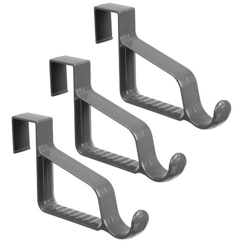 mDesign Over Door Hanging Storage Organizer Rack, Valet Hook - image 1 of 4