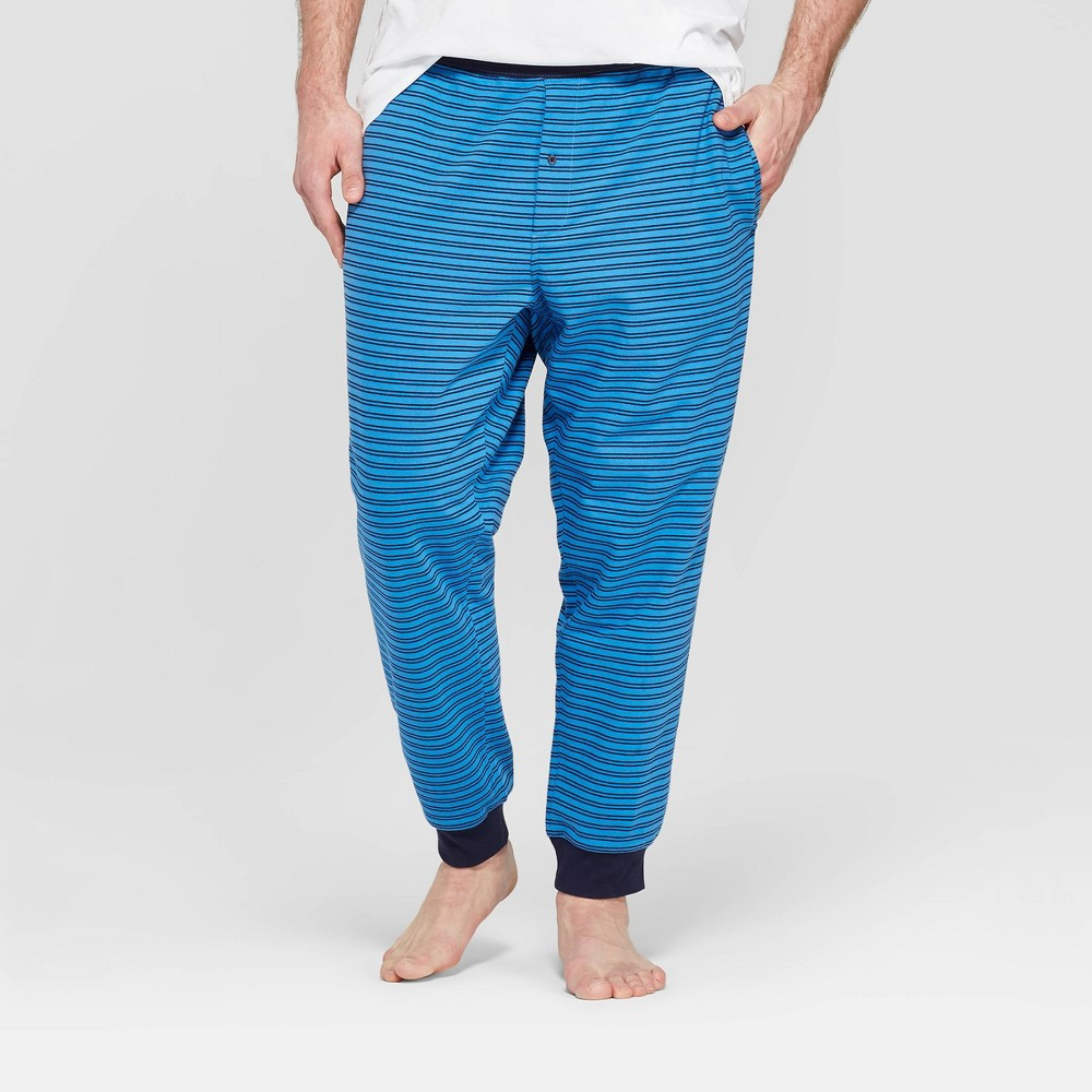Image of Men's Big & Tall Striped Pajama Pants - Goodfellow & Co Blue Raindrop 5XB