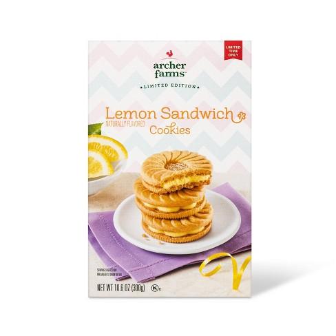Lemon Sandwich Cookie - 10.6oz - Archer Farms™ - image 1 of 3