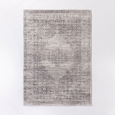 5'x7' Millcreek Distressed Vintage Persian Rug Charcoal - Threshold™ designed with Studio McGee