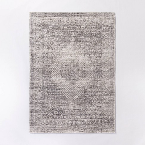 Millcreek Distressed Vintage Persian Rug Charcoal - Threshold™ designed with Studio Mcgee - image 1 of 4