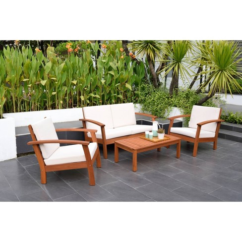 Laa Beach 4pc Patio Conversation Set, Beach Patio Furniture