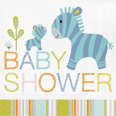 48ct Happy Jungle Baby Shower Napkins