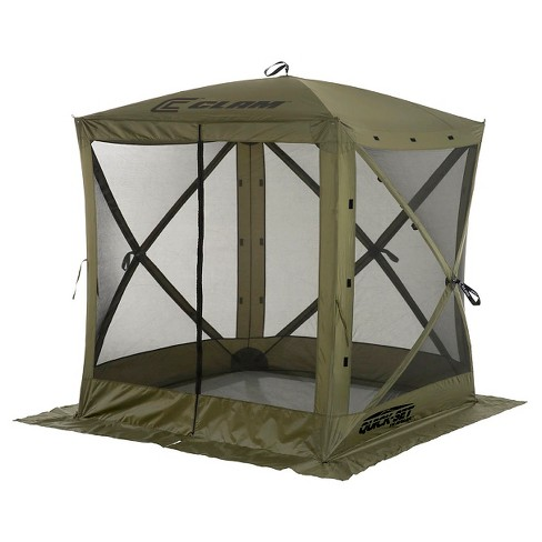 Clam Outdoors Quick-Set® Traveler™ Screen Shelter - 4 Sided (Green) - image 1 of 3