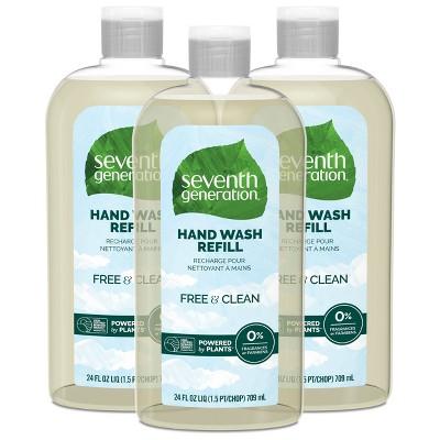 Seventh Generation Hand Wash Refill - Free & Clear - 3pk/72 fl oz