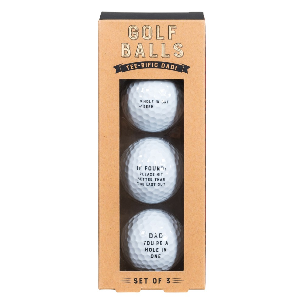 3ct Golf Balls - Noble Supply Co., White