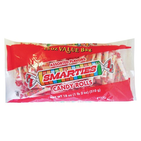 Smarties Assorted Flavors Candy Rolls