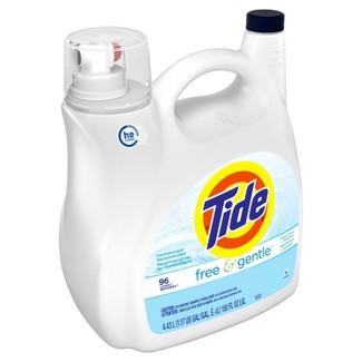 Tide Free & Gentle Unscented High Efficiency Liquid Laundry Detergent - 150 fl oz