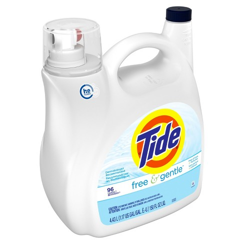 Tide Free & Gentle Unscented High Efficiency Liquid Laundry Detergent - 150 fl oz - image 1 of 3