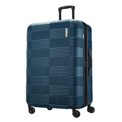 "American Tourister 28"" Checkered Hardside Spinner Suitcase - Teal"
