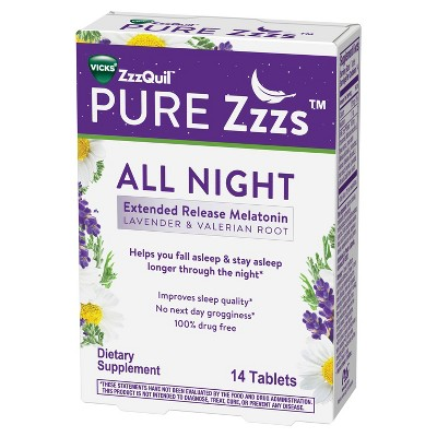 ZzzQuil Pure Zzzs All Night Tablets - 14ct