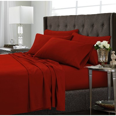 Tribeca Living Microfiber Extra Deep Pocket Sheet Set Queen - Red