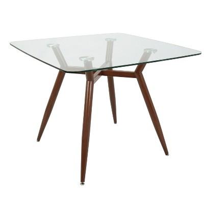 Clara Mid Century Modern Square Dining Table - LumiSource