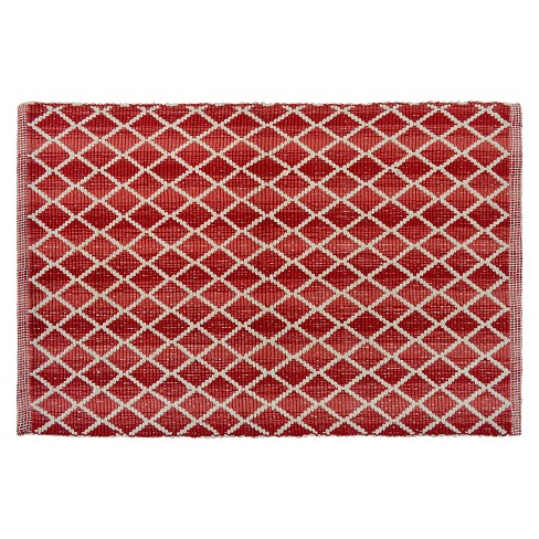 2'x3' Diamond Accent Rug Mineral Red - Threshold™ - image 1 of 1