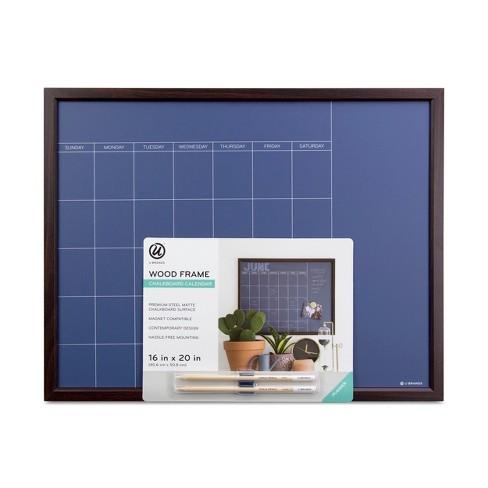 Ubrands Wood Frame Blue Chalk Calendar Board 16 X 20 Target