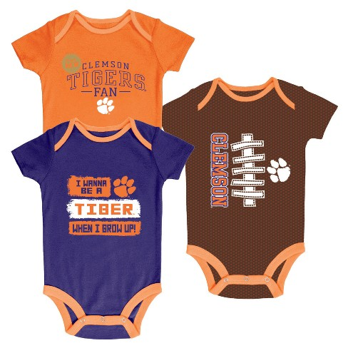 NCAA Newborn Bundle of Joy 3pk Bodysuit Set Clemson Tigers - image 1 of 1