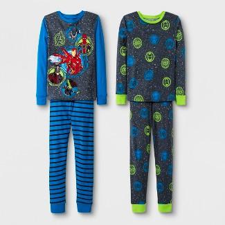 Boys' Avengers 4pc Pajama Set - Blue/Charcoal 4