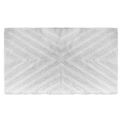 "23""x38"" Textured Stripe Bath Rug White - Project 62™ + Nate Berkus™"