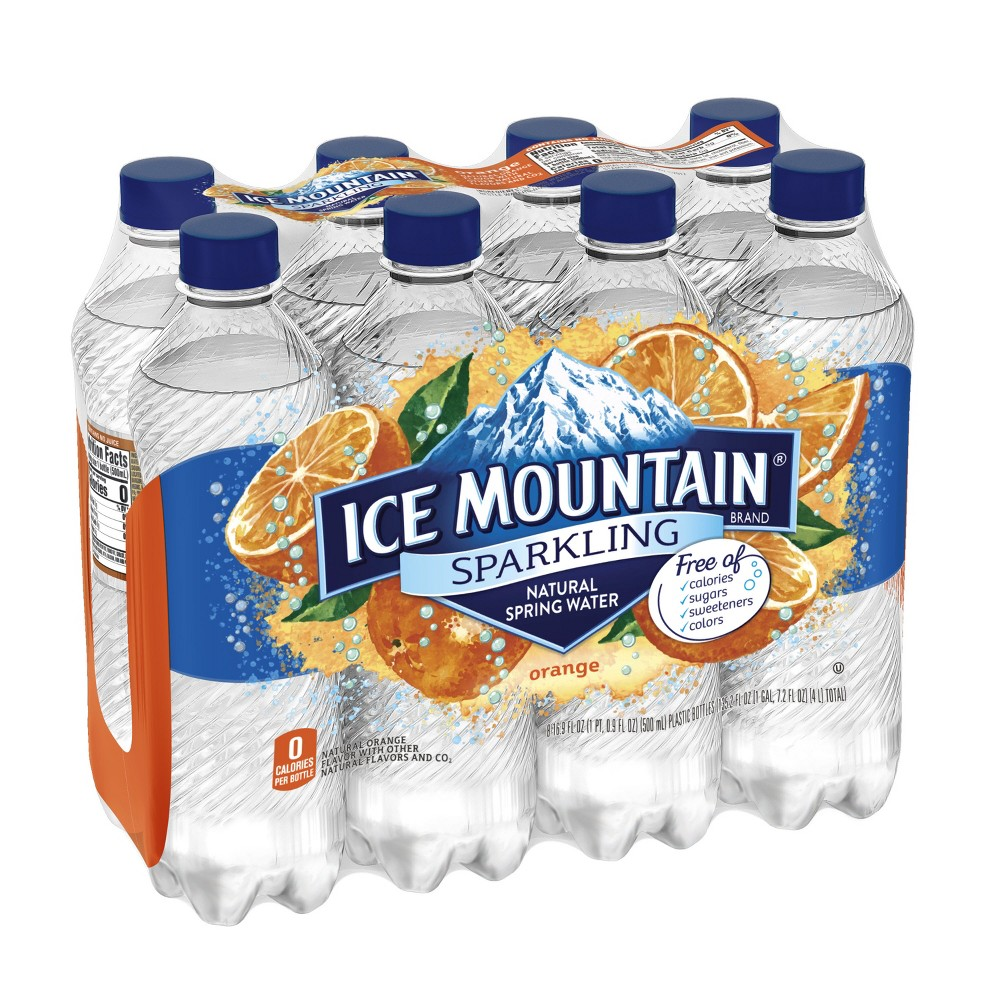 Ice Mountain Orange Mineral Water - 8pk/16.9 fl oz Bottles