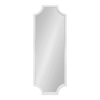 "18"" x 48"" Hogan Scallop Wall Mirror White - Kate & Laurel All Things Decor"