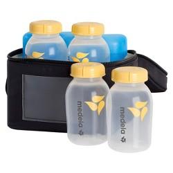 Medela Breast Milk Cooler Set with Bottles & Lids, Cooler and Ice Pack