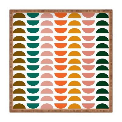 """13"""" Wood June Journal Small Retro Geometrics Tray - society6"""