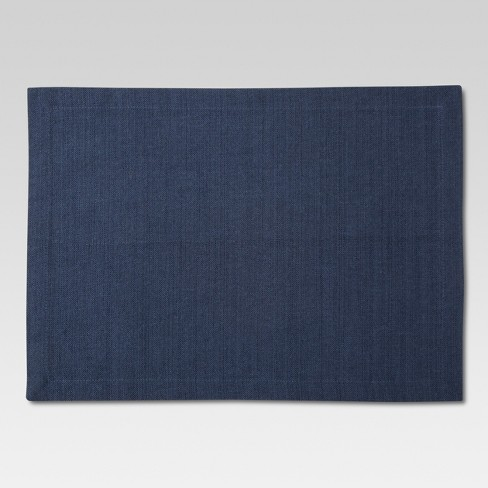 "14""x18"" Solid Placemat Blue - Threshold™ - image 1 of 1"