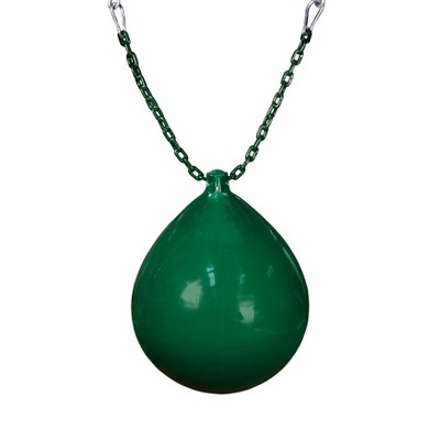 Gorilla Playsets Buoy Ball with Green Chain and Spring Clips - Green