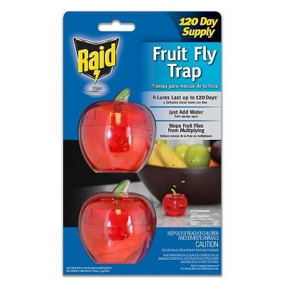 Raid Fruit Fly Trap Apple - 2pk