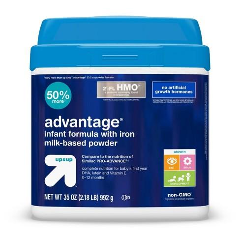 Advantage Infant Formula with Iron Milk-Based Powder - up & up™ - image 1 of 4