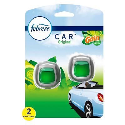 Febreze Car Odor-Eliminating Car Freshener Vent Clip Gain Original -  .06 oz
