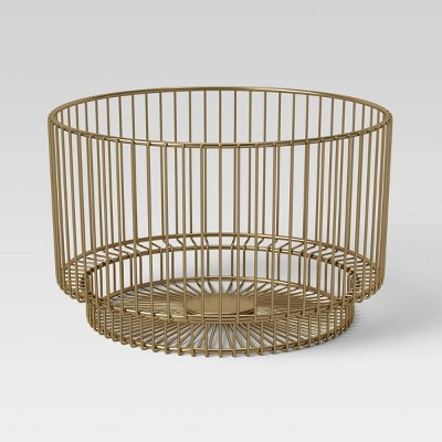 "18"" x 11"" Metal Wire Basket with Gold Finish - Project 62™"