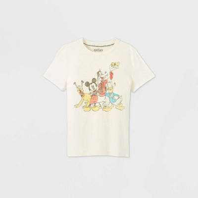 Boys' Mickey & Friends Short Sleeve Graphic T-Shirt - Off-White - Disney Store