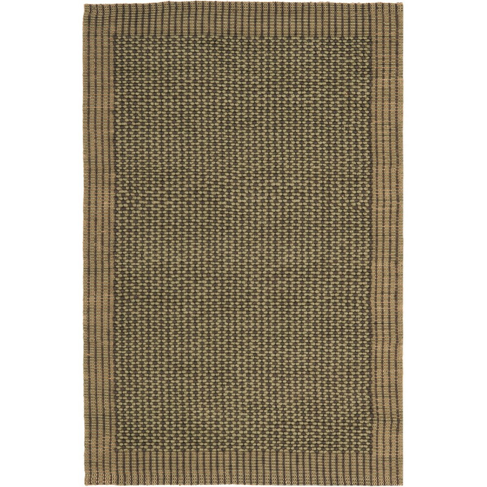 4'X6' Solid Woven Area Rug Charcoal/Green (Grey/Green) - Safavieh