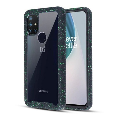 MyBat Splash Hybrid Case Compatible With Oneplus Nord N10 5G - Highly Transparent Clear / Black