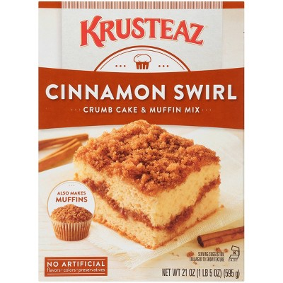 Baking Mixes: Krusteaz Cinnamon Swirl Crumb Cake & Muffin Mix