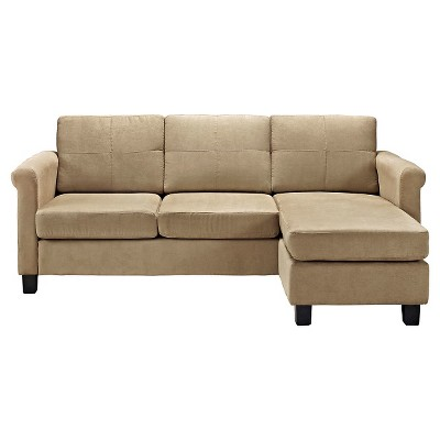 Beau Small Spaces Configurable Sectional Sofa   Taupe   Dorel Living®