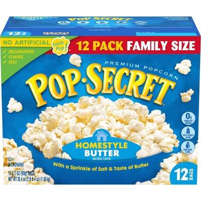 Pop Secret Homestyle Microwave Popcorn - 12ct