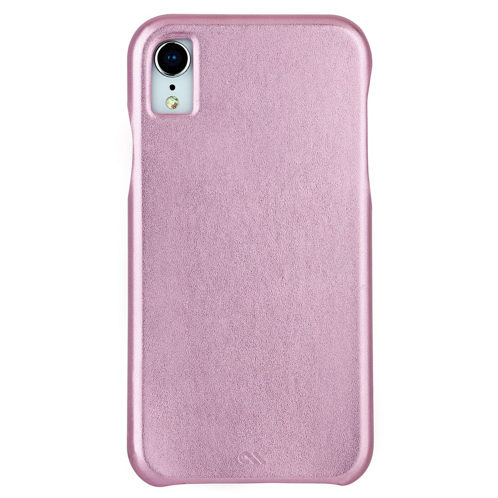 Case-Mate Apple iPhone XR Barely There Leather Case - Metallic Blush