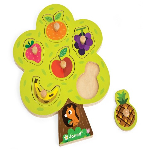 Janod Fruit Tree Wooden Puzzle - image 1 of 2