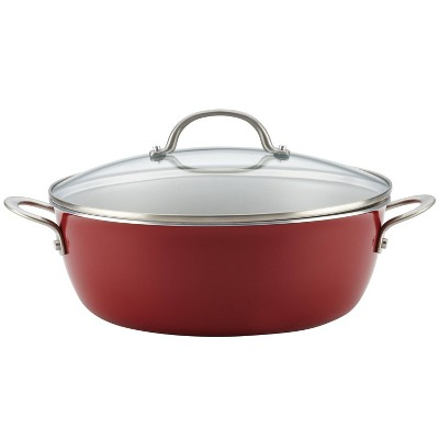 Ayesha Home Collection 7.5qt Porcelain Enamel Nonstick One Pot Meal Stockpot