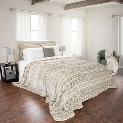 Flannel & Sherpa Blanket - Yorkshire Home®
